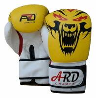 WDD ARD® Art Leather Boxing Gloves Fight Punching Bag MMA Muay Thai Kickboxing