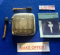SILVER ENGINE TURNED BIRMINGHAM 1918 MATCH HOLDER VESTA CASE MATCH SAFE STRIKER