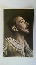 Loyola Vintage colour postcard c1960 St Ignatius Sculpture by Coullaut Valera