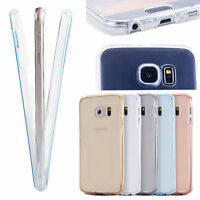 360° Full Body Protective Cover Clear TPU Case Shockproof For Samsung Galaxy