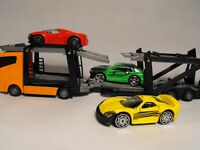 TOY CAR TRANSPORTER TOY ARTIC LORRY CAR TRANSPORTER AND CARS diecast model toy