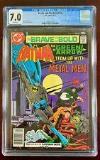 BRAVE AND THE BOLD #136 CGC 7.0 WP VF (DC 1977) BATMAN GREEN ARROW METAL MEN 🔑