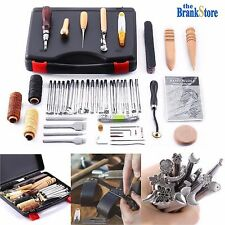 Leather Craft Tools Hand Stitching Sewing Stamping Set 59 Pc Saddle Making Tool