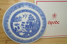"""Spode The Blue Room Willow Cake Plate 11 1/2"""" New in Box"""