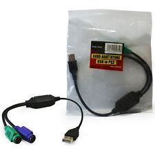 CAVO ADATTATORE VULTECH sdoppiatore convertitore da PS2 a USB per mouse tastiera