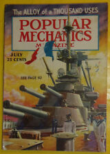 Popular Mechanics July 1936 Battleship - Ancient Art (Color Section) Nice See!