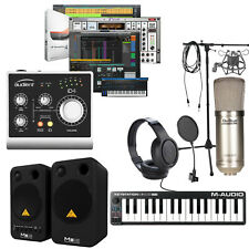 Home Recording Bundle Studio One Software Package Midi Behringer Audient iD4