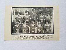 Burlington Vermont High School Women's Girls 1925-26 Basketball Team Picture