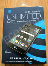 "AT&T GoPhone LG Phoenix 3 5"" 4G LTE 16GB GSM Black   NEW SEALED UNLOCKED"