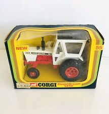Vintage CORGI David Brown 1412 Tractor #55 Boxed 1976 Made In GT Britain