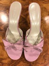 BCBG Lavender Slip On Sandal Pumps With Bow. Size 10