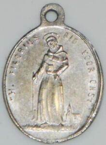 Rare Holy Medal St. Fiacre Irish Missionary Monk & St Cornelius Patron Gardeners