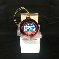 Trump CHRISTMAS ORNAMENT President Trump Maga 2020 Kag RED WHITE AND BLUE STARS