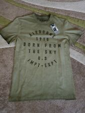 Airborne Casual Tee Shirt Green Med New..Army.Airborne.Para.Survival