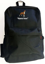 BOXER Dog and Personal Name Embroidered Monogrammed Stitched Backpack