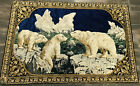Vintage Italian Tapestry Polar Bears 4 x 6 Feet