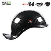 WOSAWE Skull Cap Motorcycle Half Helmet Vintage Retro ABS Biker Helmet+free gift
