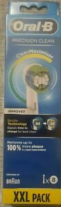 Oral B 3D White Electric Toothbrush Heads 8 Pack White Brand New Sealed (4942)