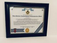 Military Commemorative ~ JOINT COMMENDATION COMMEMORATIVE MEDAL CERTIFICATE
