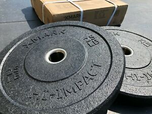 25 lb Olympic Bumper Plates - PAIR - Hi-Impact  - NEW - SHIPS TO PUERTO RICO!