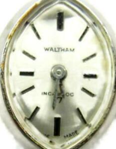 Waltham 17Jewels Wind Up Mechanical Incabloc Swiss Silver Tone Vintage Watch