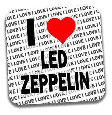 I Love Led Zeppelin Drinks Coaster - Gift - Birthday - Stocking Filler
