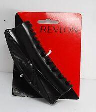 REVLON HAIR CLIP 1996 BLACK PLASTIC CLIP HAIR ACCESSORY NEW ON CARD  #74071