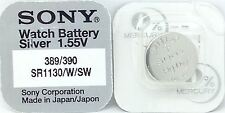 Sony 389/390 (SR1130W/SW) 1.55v Silver Oxide Mercury Free Watch Battery - Japan
