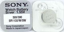 SONY 389/390 (SR1130W / SW) 1.55V argent oxyde Mercure GRATUIT Batterie Montre -