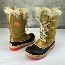 SOREL Youth Boots Tofino Ii 3 - NY1889-373 Size 5 Gold Brown Waterproof