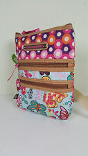 NWT ECO-FRIENDLY LILY BLOOM WOODLAND BUTTERFLY MULTI SECTION CROSSBODY BAG~