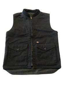 Dickies Mens Sanded Duck Insulated Vest, Black, Small