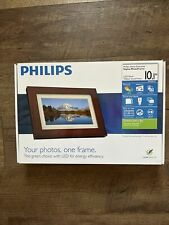 """Philips 10.1"""" LED Panel Digital Photo Frame Home Essentials Wood Picture Frames"""