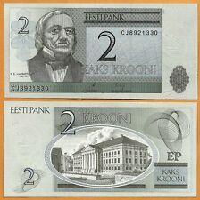Estonia, 2007, UNC, 2 Krooni, P-85b
