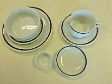 Delta Airlines 1st Class Abco Navy & Gold Braid 7 Piece Place Setting