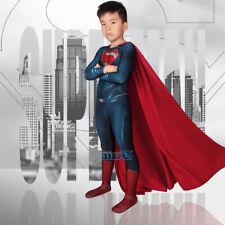 Man of Steel Superman Cosplay Kostüm Costume Outfit Kid Kinder Halloween v1