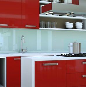 Küchenrückwand Acrylglas weiß opal Spritzschutz Fliesenspiegel Badfliese