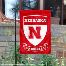 Nebraska Huskers Shield Garden Flag and Yard Banner