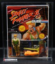 AFA 85 Hasbro GI Joe GUILE action figure 1993 MOC Street Fighter II Capcom NICE!