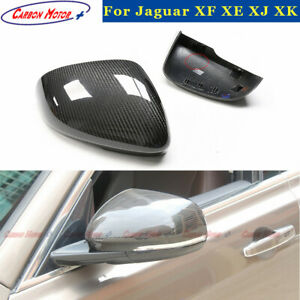 Dry Carbon Fiber Mirror Cover for Jaguar XF XE XK XJ/R Replace Clip Shell Casing