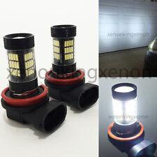 H11 Samsung LED 57 SMD Bright White 6000K Headlight 2x Light Bulbs #u3 High Beam