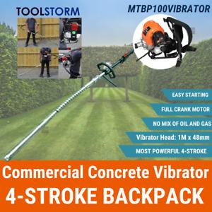 TOOLSTORM 4-STROKE BACKPACK Petrol Commercial Concrete Vibrator 48mm Hard Nose