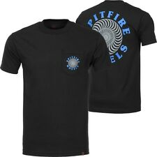 Spitfire Wheels Og Classic Pocket Skateboard T Shirt Black/Grey/Blue Medium