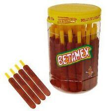 Betamex Banderilla Tarugos Tamarindo Chile Mexico Tamarind Candy Sticks 50Pc 2Kg