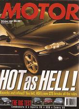Motor Oct 97 HSV GTS XR6 Commodore S Xantia CT Golf GTi Integra Porsche 911 996