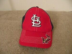 NEW Red/ Black Marled St Louis Cardinals Baseball Hat Cap Mens Adjustable