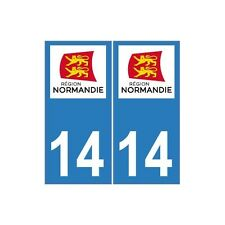 14 Calvados autocollant plaque Normandie sticker nouveau logo immatriculation dr
