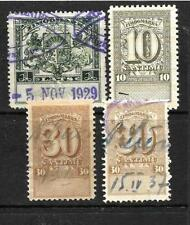Fiscal, Revenue Latvian Stamps