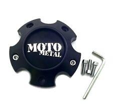 "Moto Metal Satin Black 4 3/4"" Wheel Center Hub Cap 6 Lug 6x4.5/120"