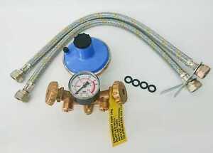 Centralina gas mini collettore con manometro, Regolatore 10 kg e flessibili